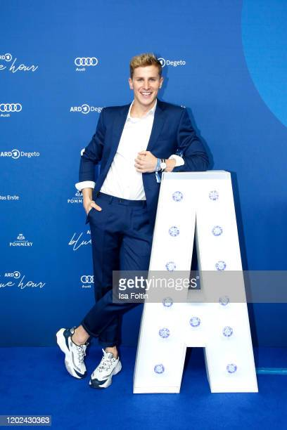 German actor Lukas Sauer attends the Blue Hour Party hosted by ARD during the 70th Berlinale International Film Festival at Museum der Kommunikation...
