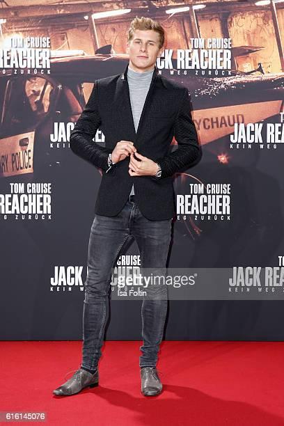 German actor Lukas Sauer attends the 'Jack Reacher: Never Go Back' Berlin Premiere at CineStar Sony Center Potsdamer Platz on October 21, 2016 in...