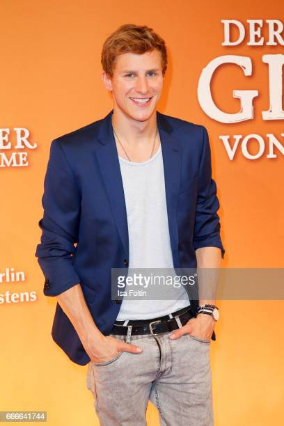 German actor Lukas Sauer attends the premiere of the musical 'Der Gloeckner von Notre Dame' on April 9, 2017 in Berlin, Germany.