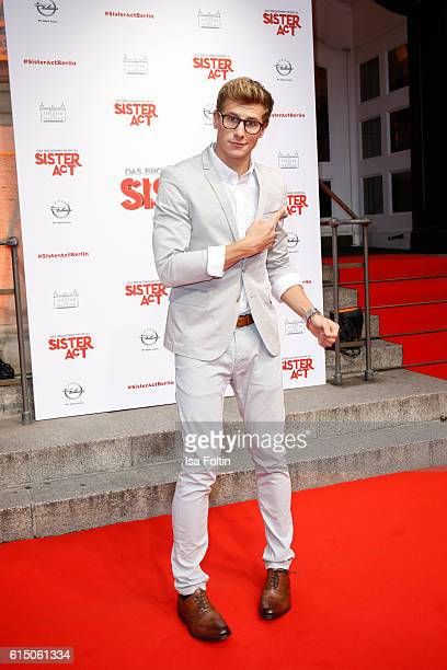 German actor Lukas Sauer attends the 'Sister Act: The Musical' premiere at Stage Theater on October 16, 2016 in Berlin, Germany.