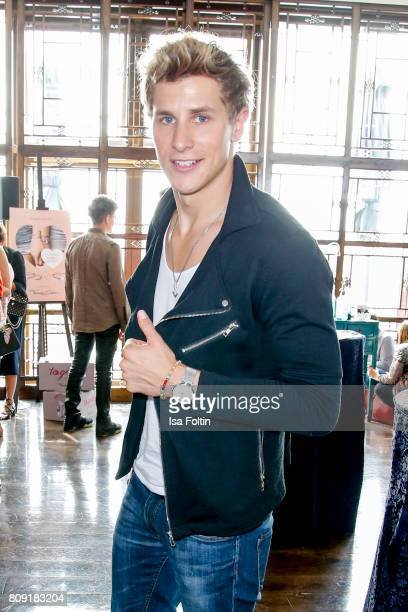German actor Lukas Sauer attends the Thomas Sabo Press Cocktail during the Mercedes-Benz Fashion Week Berlin Spring/Summer 2017 at China Club on July...