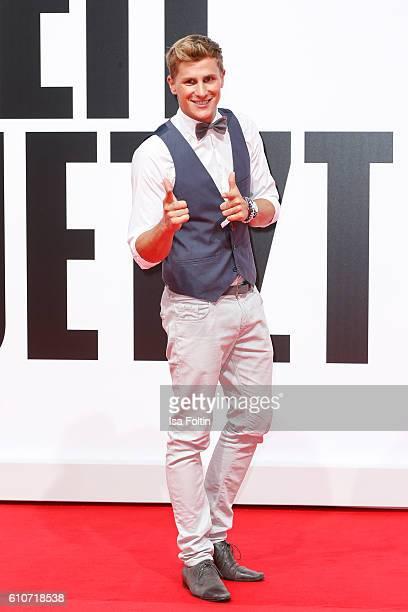 German actor Lukas Sauer attends the 'Unsere Zeit ist jetzt' World Premiere at CineStar on September 27, 2016 in Berlin, Germany.