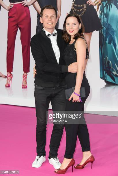 German actor Malte Arkona and his wife AnnaMaria Arkona attend the 'High Society' Premiere at CineStar on September 5 2017 in Berlin Germany