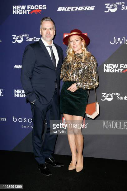 GErman actor Manou Lubowski and German actress Nele Kiper attends the Bunte New Faces Night at Hotel Oderberger on January 13 2020 in Berlin Germany