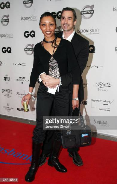 German actor Manou Lubowski and guest attend the GQ Ispovision Style night, February 5 in Munich, Germany.