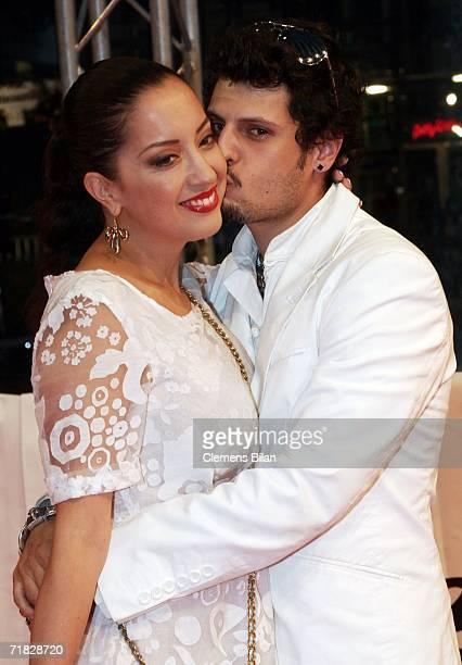 German actor Manuel Cortez and his girlfriend Miyabi Kawai attend the premiere of the film Das Parfum September 8 2006 in Berlin Germany