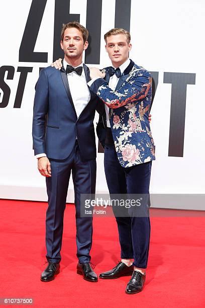 German actor Marc Benjamin and german actor David Schuetter attend the 'Unsere Zeit ist jetzt' World Premiere at CineStar on September 27 2016 in...