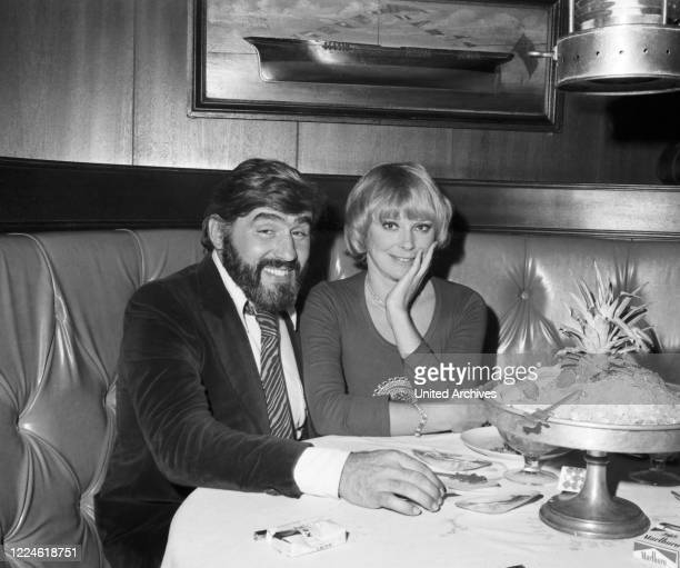 German actor Mario Adorf with Elke Sommer, Germany, 1970s.