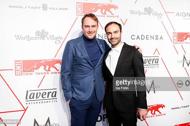 German actor Martin Stange and fashion designer Ivan Strano attend the New Faces Award Style on November 16 2016 in Berlin Germany