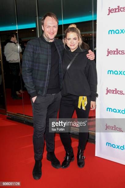 German actor Martin Stange and German actress Merle Collet during the 'Jerks' premiere at Zoo Palast on March 21 2018 in Berlin Germany
