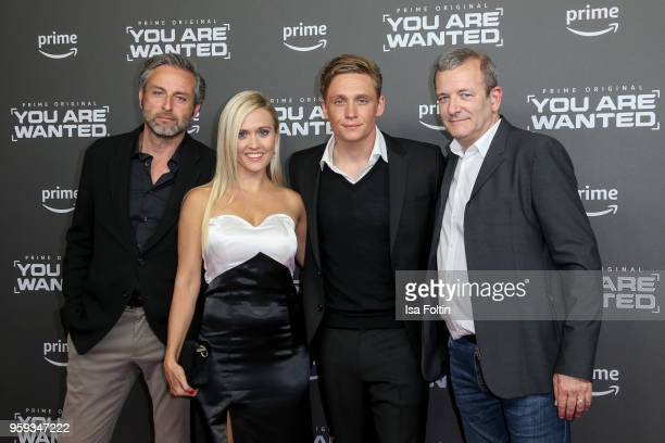 German actor Matthias Beier Polish actress Anna Baranowska German actor director and producer Matthias Schweighoefer and actor JeanChristophe Nigon...