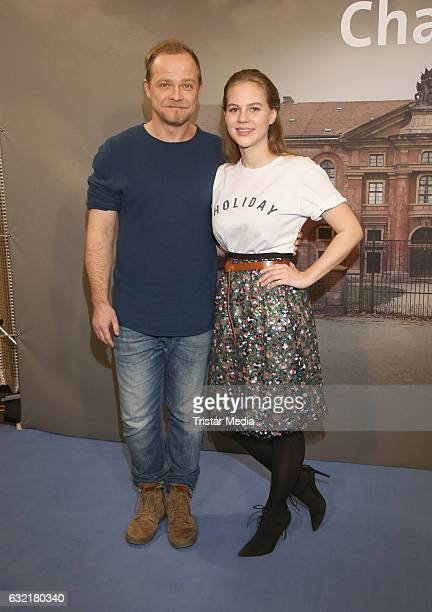 German actor Matthias Koeberlin and german actress and model Alicia von Rittberg attend the photocall for the new event series 'Charite' at East...