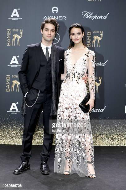 German actor Max Befort and her sister German actress Luise Befort attend the 70th Bambi Awards at Stage Theater on November 16 2018 in Berlin Germany