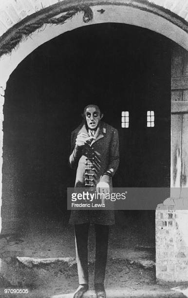 German actor Max Schreck as the vampire Count Orlok in a promotional still for from F W Murnau's expressionist horror film 'Nosferatu Eine Symphonie...