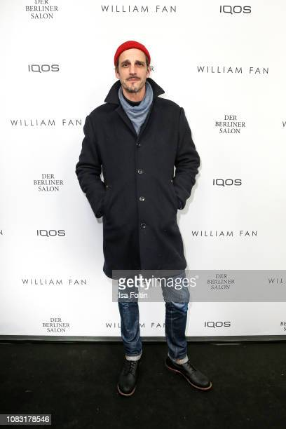 German actor Max von Thun arrives for the William Fan Defile during 'Der Berliner Salon' Autumn/Winter 2019 at Knutschfleck on January 15 2019 in...