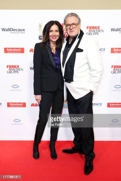 German actor Michael Brandner and hsi wife Karin Brandner attend the annual Goldene Bild der Frau award on October 23 2019 in Hamburg Germany