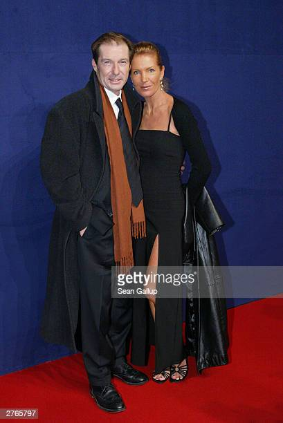 "German actor Michael Lesch and his wife Christina Keiler-Lesch attend ""The Bambi Awards"" November 27, 2003 in Hamburg, Germany."