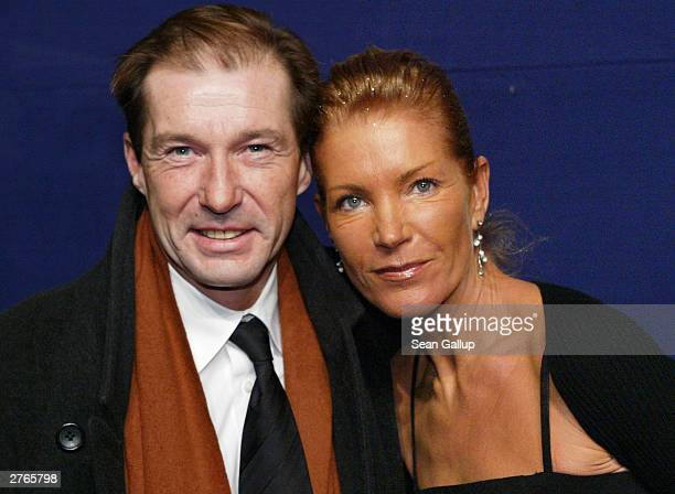 German actor Michael Lesch and his wife Christina KeilerLesch attend The Bambi Awards November 27 2003 in Hamburg Germany