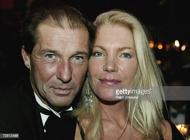 German actor Michael Lesch and his wife Christina KeilerLesch attend the Deutscher Sportpresseball on November 11 2006 in Frankfurt Germany