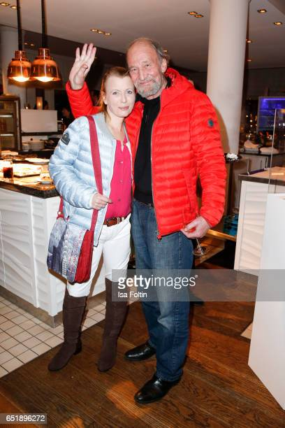 German actor Michael Mendl and his girlfiend Gesine Friedmann attend the 'Baltic Lights' charity event on March 10 2017 in Heringsdorf Germany Every...