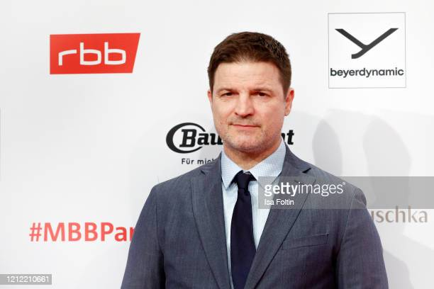 German actor Misel Maticevic attends the Medienboard Party on the occasion of the 70th Berlinale International Film Festival at Ritz Carlton on...