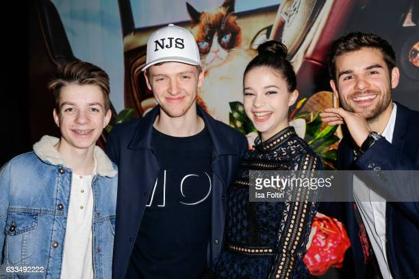German actor Nick Julius Schuck german actor Timur Bartels german actress LisaMarie Koroll and german actor Lucas Reiber attend the Presentation of...
