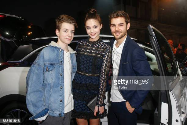 German actor Nick Julius Schuck german actress LisaMarie Koroll and german actor Lucas Reiber attend the Presentation of the new Opel Calender 2017...