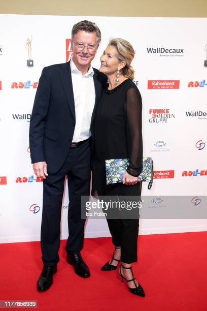 "German actor Nick Wilder and his wife Christine Mayn attend the annual ""Goldene Bild der Frau"" award on October 23, 2019 in Hamburg, Germany."