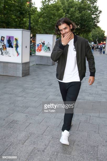 German actor Nik Xhelilaj during the Bunte New Faces Night at Grace Hotel Zoo on July 2 2018 in Berlin Germany