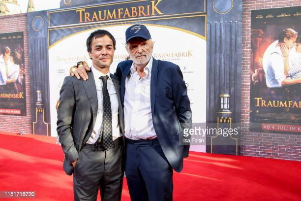 """German actor Nikolai Kinski and German actor Michael Gwisdek attend the """"Traumfabrik"""" Movie Premiere on June 24, 2019 in Berlin, Germany."""