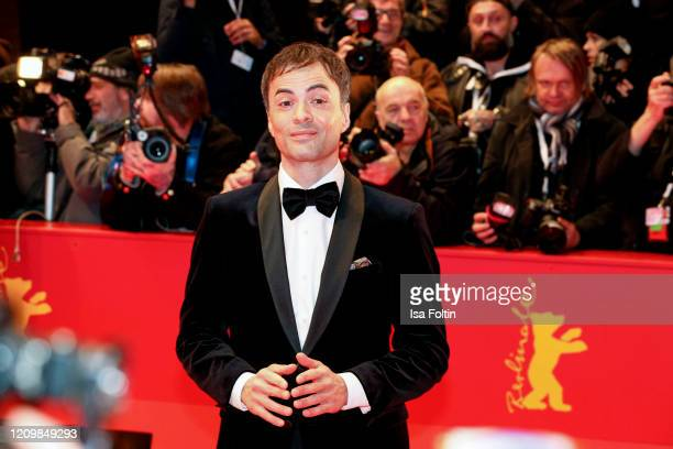 """German actor Nikolai Kinski arrive for the opening ceremony and """"My Salinger Year"""" premiere during the 70th Berlinale International Film Festival..."""