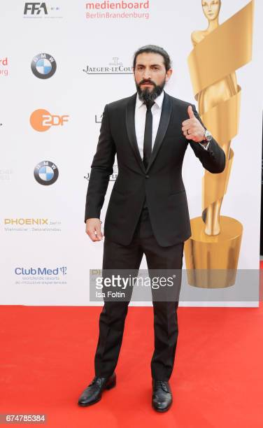 German actor Numan Acar during the Lola German Film Award red carpet arrivals at Messe Berlin on April 28 2017 in Berlin Germany
