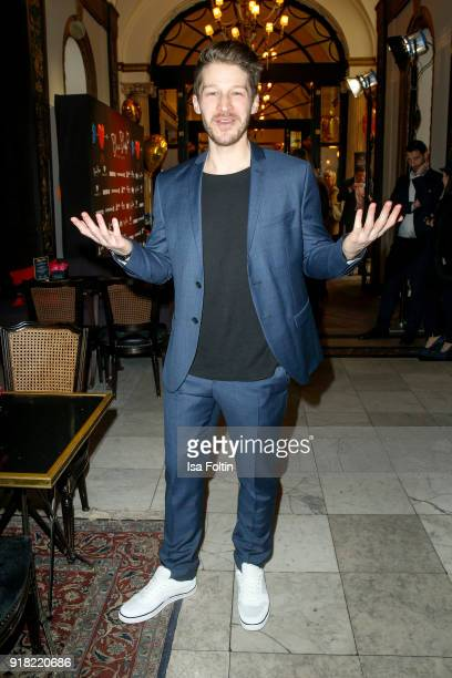 German actor Oliver Bender attends the Blaue Blume Awards 2018 at Grosz on February 14 2018 in Berlin Germany