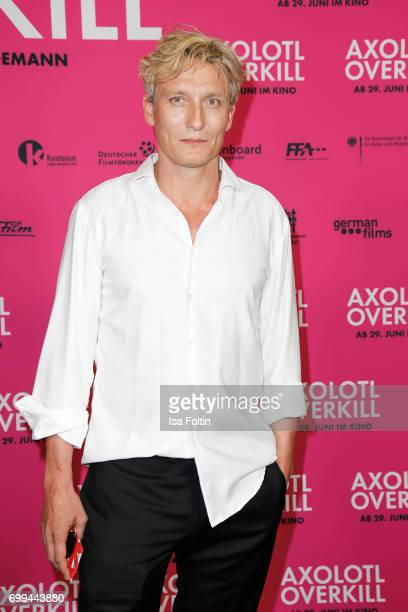 German actor Oliver Masucci attends the 'Axolotl Overkill' Berlin Premiere at Volksbuehne Rosa-Luxemburg-Platz on June 21, 2017 in Berlin, Germany.