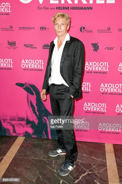 German actor Oliver Masucci attends the 'Axolotl Overkill' Berlin Premiere at Volksbuehne RosaLuxemburgPlatz on June 21 2017 in Berlin Germany