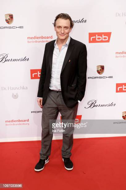 German actor Oliver Masucci attends the Medienboard Berlin-Brandenburg Reception on the occasion of the 69th Berlinale International Film Festival at...