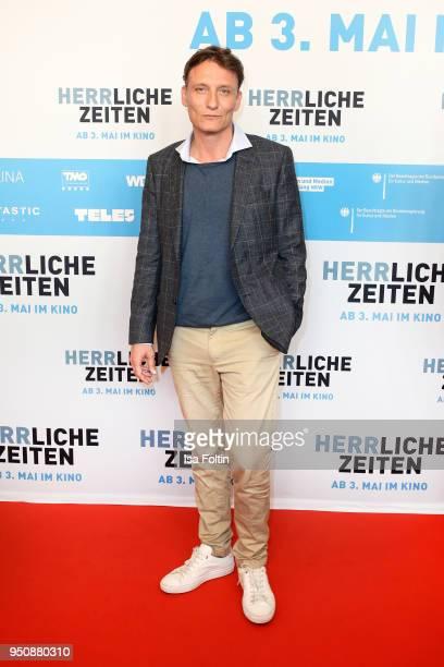 German actor Oliver Masucci during the 'Herrliche Zeiten' Premiere In Berlin at Kino International on April 24, 2018 in Berlin, Germany.