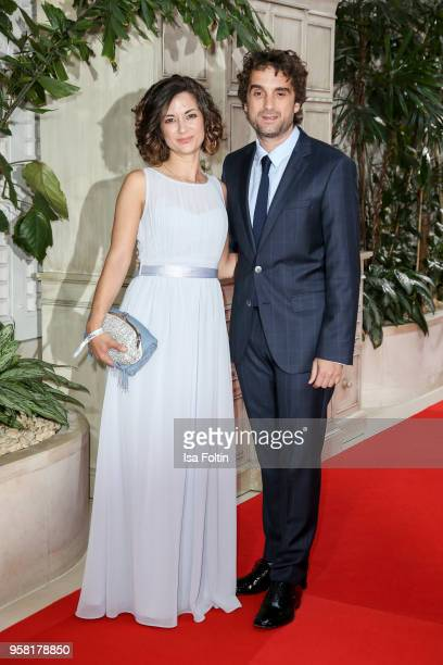 German actor Oliver Wnuk and his siter Samantha Wnuk attend the Felix Burda Award at Hotel Adlon on May 13 2018 in Berlin Germany