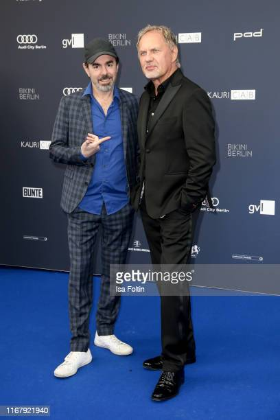 German actor Oscar Ortega Sanchez and German actor Uwe Ochsenknecht at the award ceremony of the Deutscher Schauspielpreis at Zoo Palast on September...