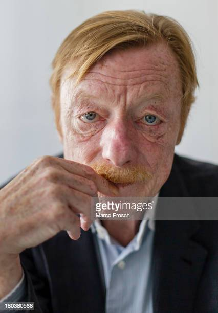 German actor Otto Sander poses on August 20 2009 in Halle Germany
