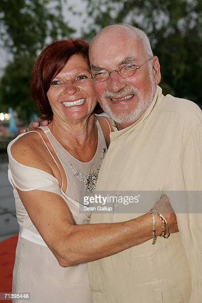 German actor Peter Lustig and his wife Astrid attend the ZDF television station summer party July 7 2006 in Berlin Germany