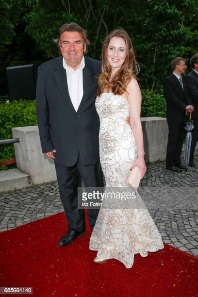 German actor Peter Rappenglueck and Katharina Botzenhart attend the Bayerischer Fernsehpreis 2017 at Prinzregententheater on May 19 2017 in Munich...