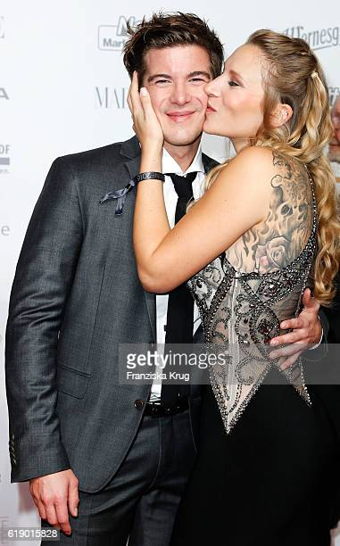 German actor Philipp Danne and his girlfriend Viktoria Schuessler attend the Goldene Henne on October 28 2016 in Leipzig Germany