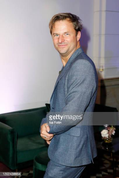 German actor Philipp Hochmair arrives for the Blue Hour Party hosted by ARD during the 70th Berlinale International Film Festival at Museum der...