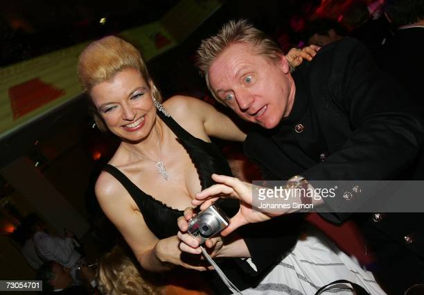 German actor Pierre Franckh and his wife actress Michaela Merten attend the 34th annual German Film Ball at the Bayerischer Hof Hotel January 20 2007...