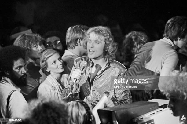 German actor, radio and TV presenter Thomas Gottschalk at Hamburg, Germany circa 1982.