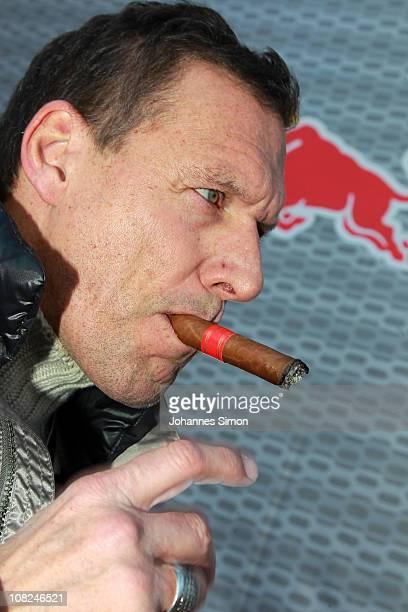 German actor Ralf Moeller attends the Hahnenkamm race on January 22 2011 in Kitzbuehel Austria