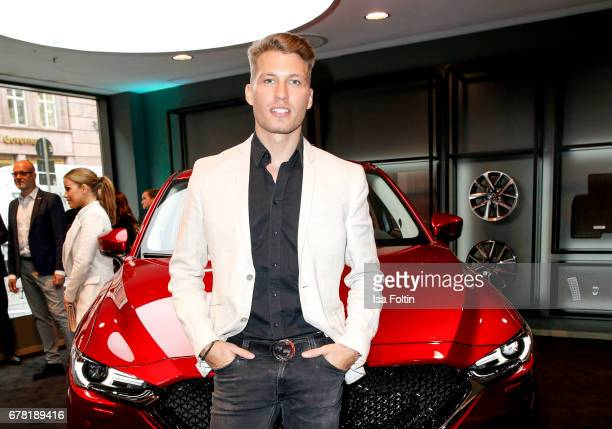 German actor Raul Richter during the spring cocktail hosted by Mazda and InTouch magazine at Mazda Lounge on May 3 2017 in Berlin Germany