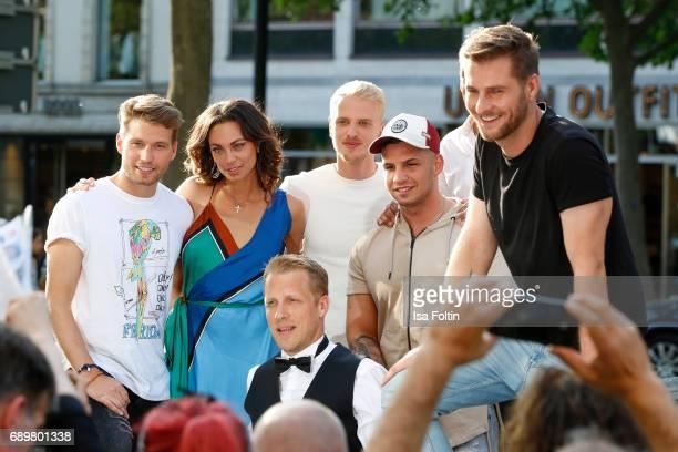 German actor Raul Richter model Mario Galla Lilly Becker German presenter Oliver Pocher German singer Pietro Lombardi and German presenter Maurice...
