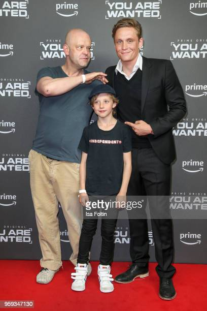 German actor Robert Gallinowski child Oskar Weisz and German actor director and producer Matthias Schweighoefer attend the premiere of the second...